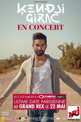 Kendji Girac en concert au Grand Rex de Paris en mai 2015
