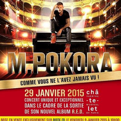 M. Pokora en concert exceptionnel au Théâtre du Châtelet à Paris
