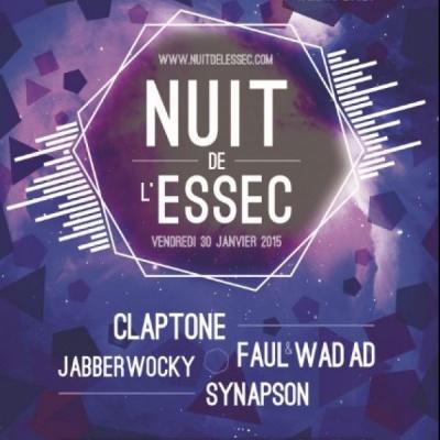 Nuit de l'Essec 2015 à Cergy avec Claptone et Jabberwocky