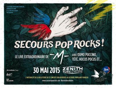 Secours Pop Rocks au Zénith de Paris avec -M-