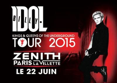 Billy Idol en concert au Zénith de Paris en juin 2015