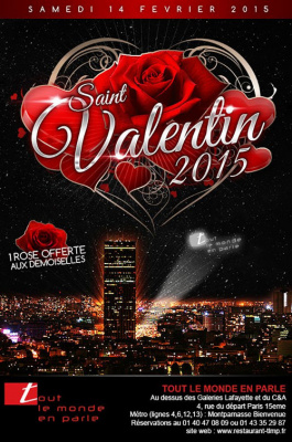 Soirée de la Saint Valentin 2015 au Tout Le Monde en Parle