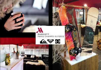 Ski Spot Quiksilver au Paris Marriott Champs Elysees Hotel