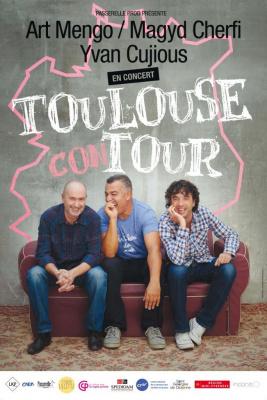 Art Mengo, Magyd Cherfi et Yvan Cujious présentent le Toulouse Con Tour au Café de La Danse