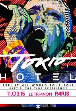 Tokio Hotel en concert au Trianon de Paris en mars 2015