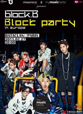 Block-B en concert au Bataclan de Paris