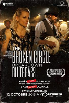 The Broken Circle Breakdown Bluegrass Band en concert à l'Olympia de Paris en octobre 2015
