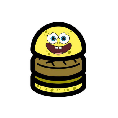"Burger ""Krabby Patty"" by Blend au Colette Water Bar"