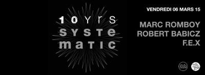 10 years of Systematic au Zig Zag Club avec Marc Romboy