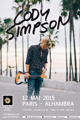 Cody Simpson en concert à l'Alhambra de Paris