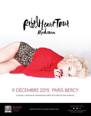 Madonna en concert à Paris Bercy en décembre 2015