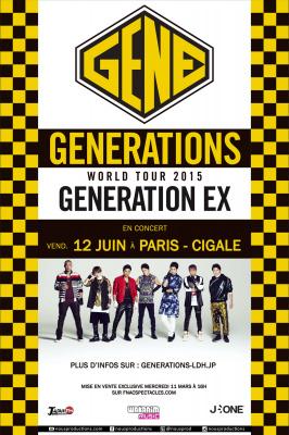 Generations From Exile Tribe en concert à La Cigale de Paris en juin 2015