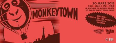Monkeytown Night à la Machine du Moulin Rouge