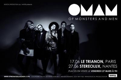 Of Monsters and Men en concert au Trianon de Paris en juin 2015