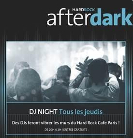 Hard Rock Cafe Paris lance les soirées After Dark