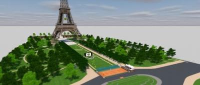 Roland Garros dans la ville 2015 au pied de la Tour Eiffel