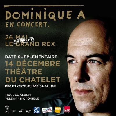 Dominique A en concert au Théâtre du Châtelet en décembre 2015