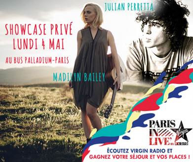 Paris In Live au Bus Palladium avec Julian Perretta et Madilyn Bailey : gagne ta place !
