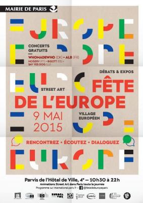 Fête de l'Europe 2015 sur le parvis de l'Hôtel de Ville de Paris