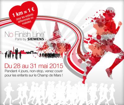 No Finish Line Paris by Siemens 2015 : course solidaire et non stop sur le Champ de Mars