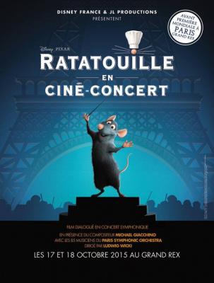 Ratatouille en cin concert au grand rex de paris for Salon pixar paris