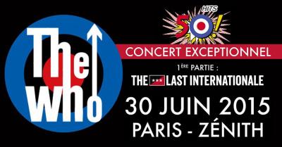 The Who en concert au Zénith de Paris en juin 2015