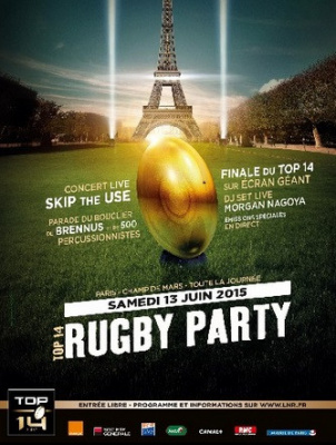 TOP 14 Rugby Party au Champ de Mars à Paris