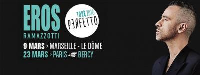 Eros Ramazzotti en concert à Paris Bercy Arena en mars 2016