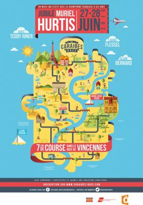 Caraïbes Race 2015 au Bois de Vincennes à Paris avec Muriel Hurtis