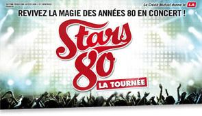 Tournée Stars 80 à Paris Bercy Arena en décembre 2015
