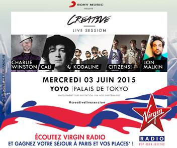 CreativeCreative Live Session au Yoyo avec Citizens! et Charlie Winston : gagne ta place!