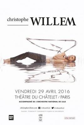 Christophe Willem en concert au Théâtre du Châtelet de Paris en 2016