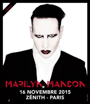 Marilyn Manson en concert au Zénith de Paris en novembre 2015
