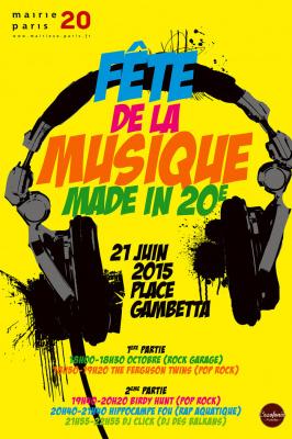Fête de la Musique 2015 sur le Parvis de la Mairie du 20ème