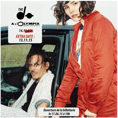 The DØ en concerts à l'Olympia de Paris en novembre 2015
