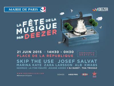 Fête de la Musique 2015 sur la Place de La République avec Deezer