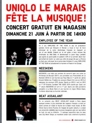 Uniqlo-Le Marais fête la musique 2015