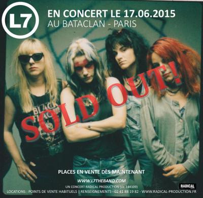 L7 en concert au Bataclan : on y était, on vous raconte