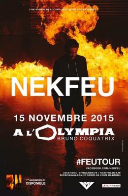 Nekfeu en concert à l'Olympia de Paris en novembre 2015
