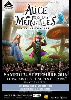 Alice au Pays des Merveilles en ciné-concert au Palais des Congrès de Paris en 2016