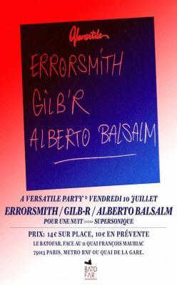 Versatile Party au Batofar avec Errorsmith