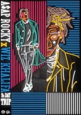 ASAP Rocky & Wiz Khalifa en concert au Zénith de Paris en octobre 2015