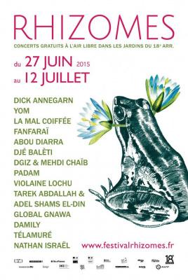 Festival Rhizomes 2015 : concerts gratuits dans les jardins du 18e