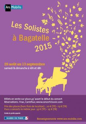 Les Solistes à Bagatelle 2015 : dates, programmation et réservations