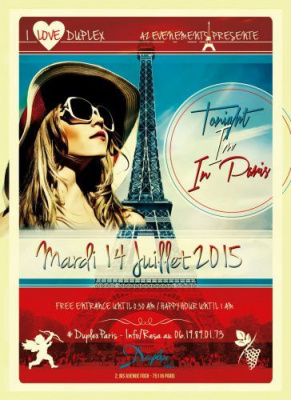 Tonight I'm in Paris au Duplex