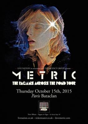 Metric en concert au Bataclan de Paris en octobre 2015