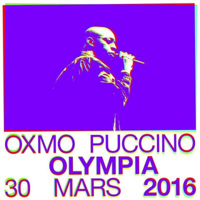 Oxmo Puccino en concert à l'Olympia de Paris en 2016