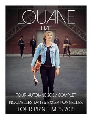 Louane en concert au Zénith de Paris en mai 2016