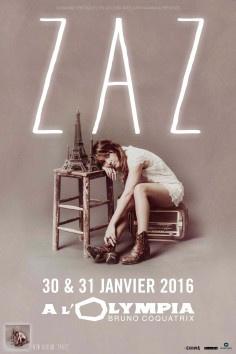 ZAZ en concerts à l'Olympia de Paris en 2016