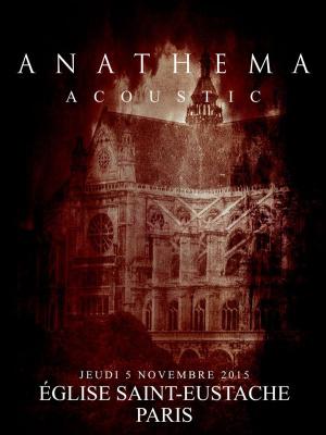 Anathema en concert acoustique à l'église Saint Eustache de Paris